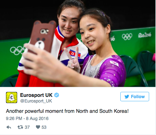 North and South Korean Selfie Olympics 2016